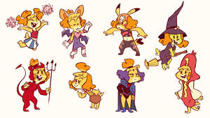Isabelle Costumes P1