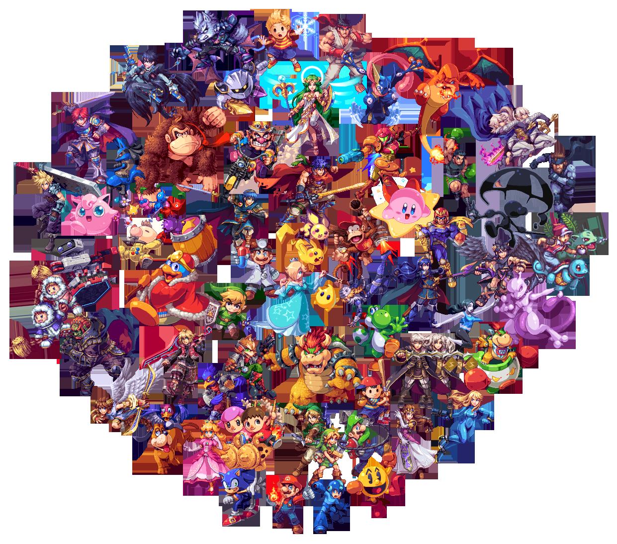 AbyssWolf's Smash 4 Pixel Art (+ Veterans) by Leafpenguins