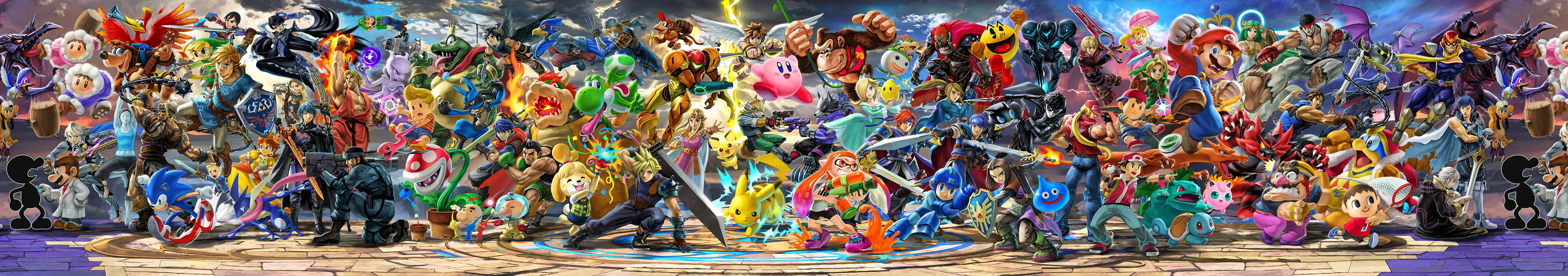 Super Smash Bros Ultimate Official Panoramic Art By Leafpenguins