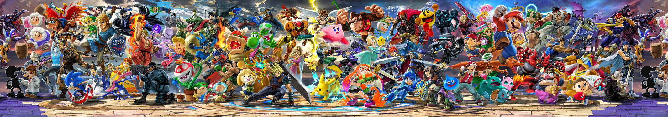 Super Smash Bros. Ultimate OFFICIAL Panoramic Art
