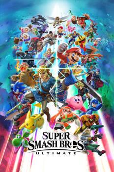 Super Smash Bros. Ultimate OFFICIAL Key Art by Leafpenguins