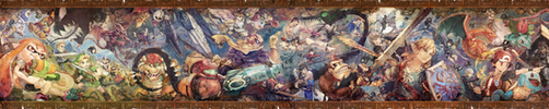 Super Smash Bros. Ultimate Classic Mode Mural by Leafpenguins