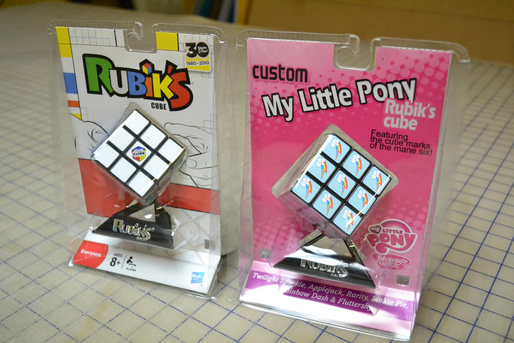 My Little Pony: FIM Custom Rubik's Cube Comparison by DILeak