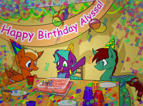 Commission 15: Alyssa's Birthday