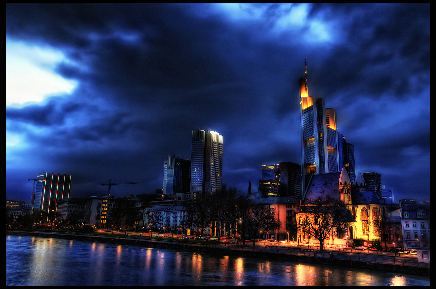 frankfurt skyline by riot23 on deviantart. Black Bedroom Furniture Sets. Home Design Ideas