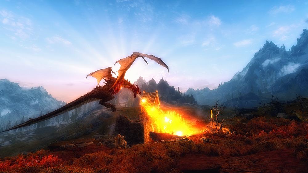 Skyrim - Dragon by Riot23