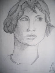 Sketch Female Portrait 2 2000