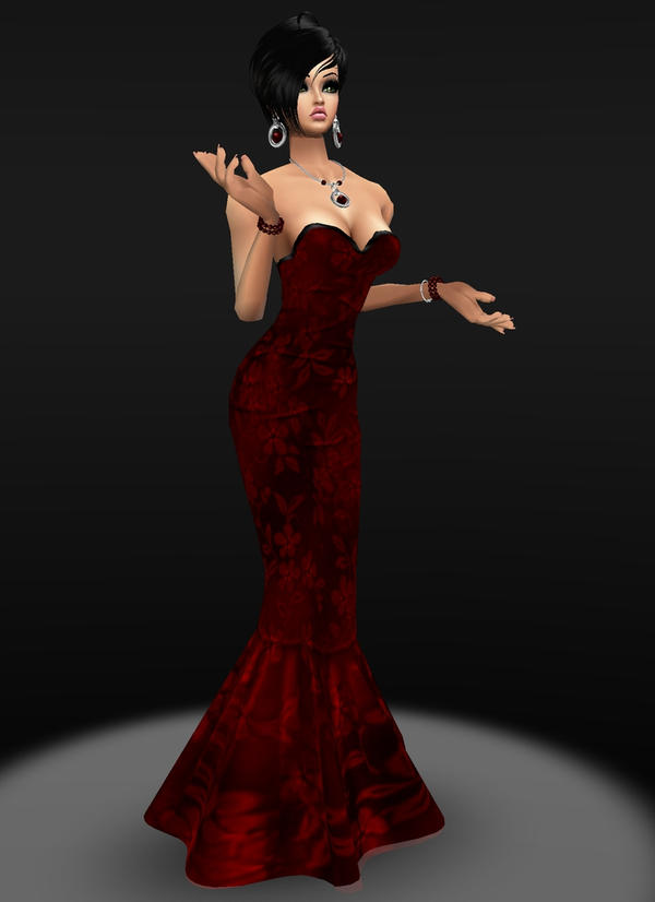 REd Mertail Gown by zodiac699