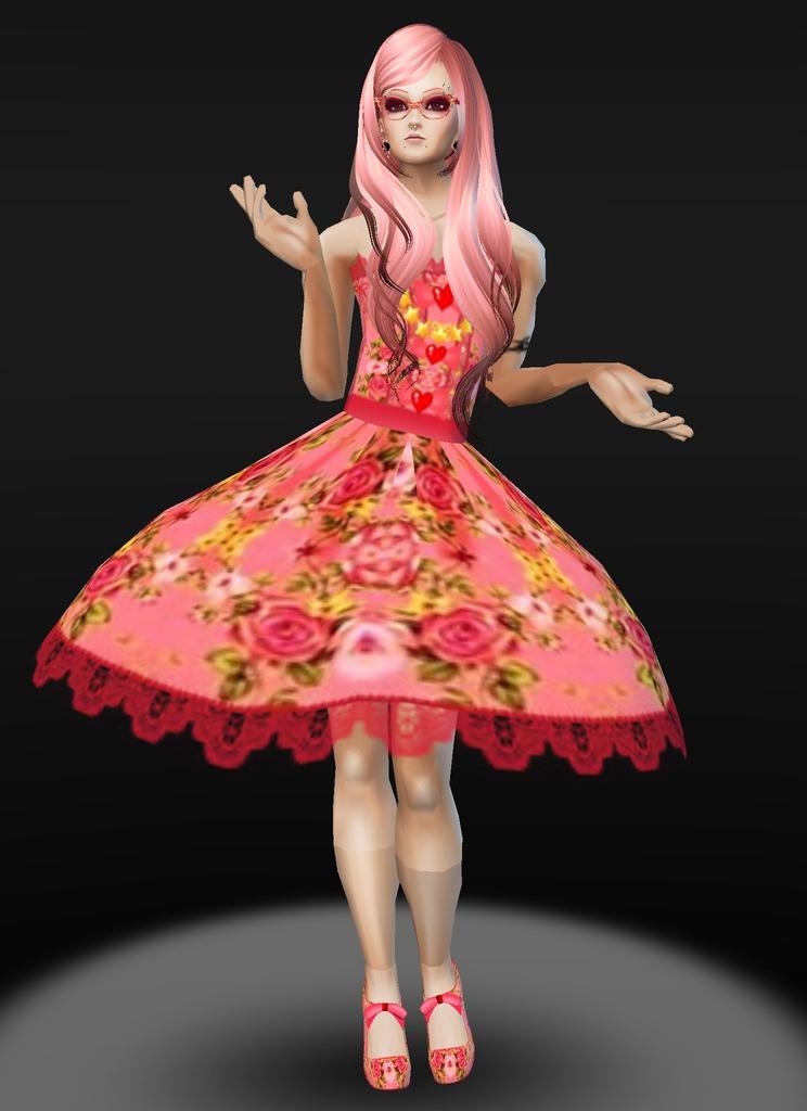 Peach Rose T-girl by zodiac699
