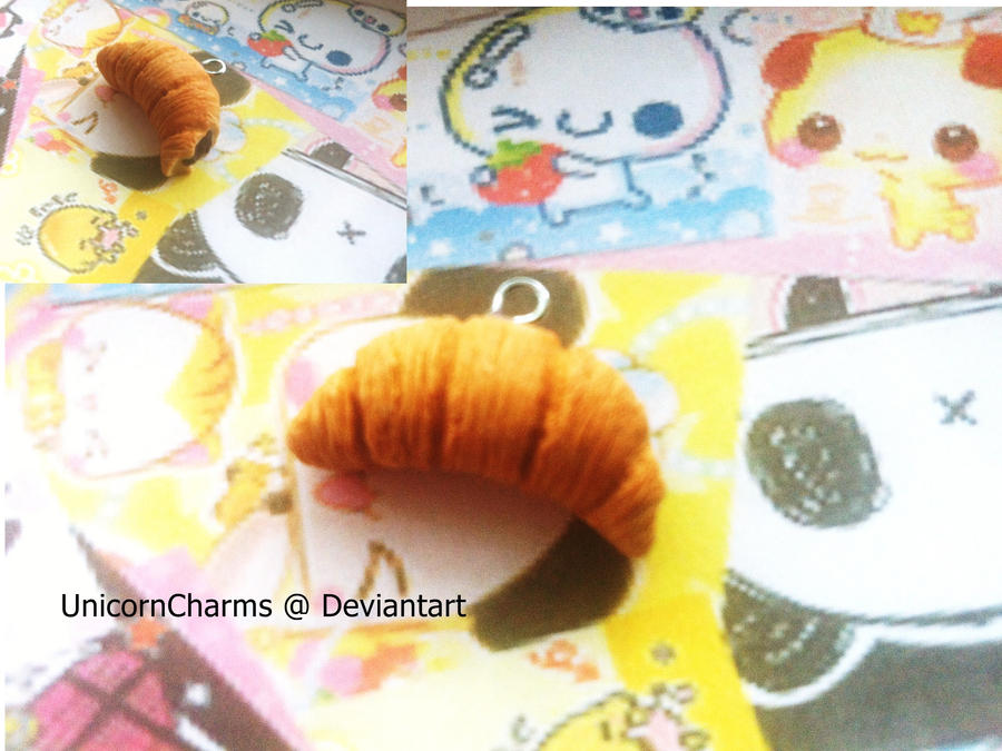 Bitten Croissant with Chocolate/Nutella Filing by UnicornCharms