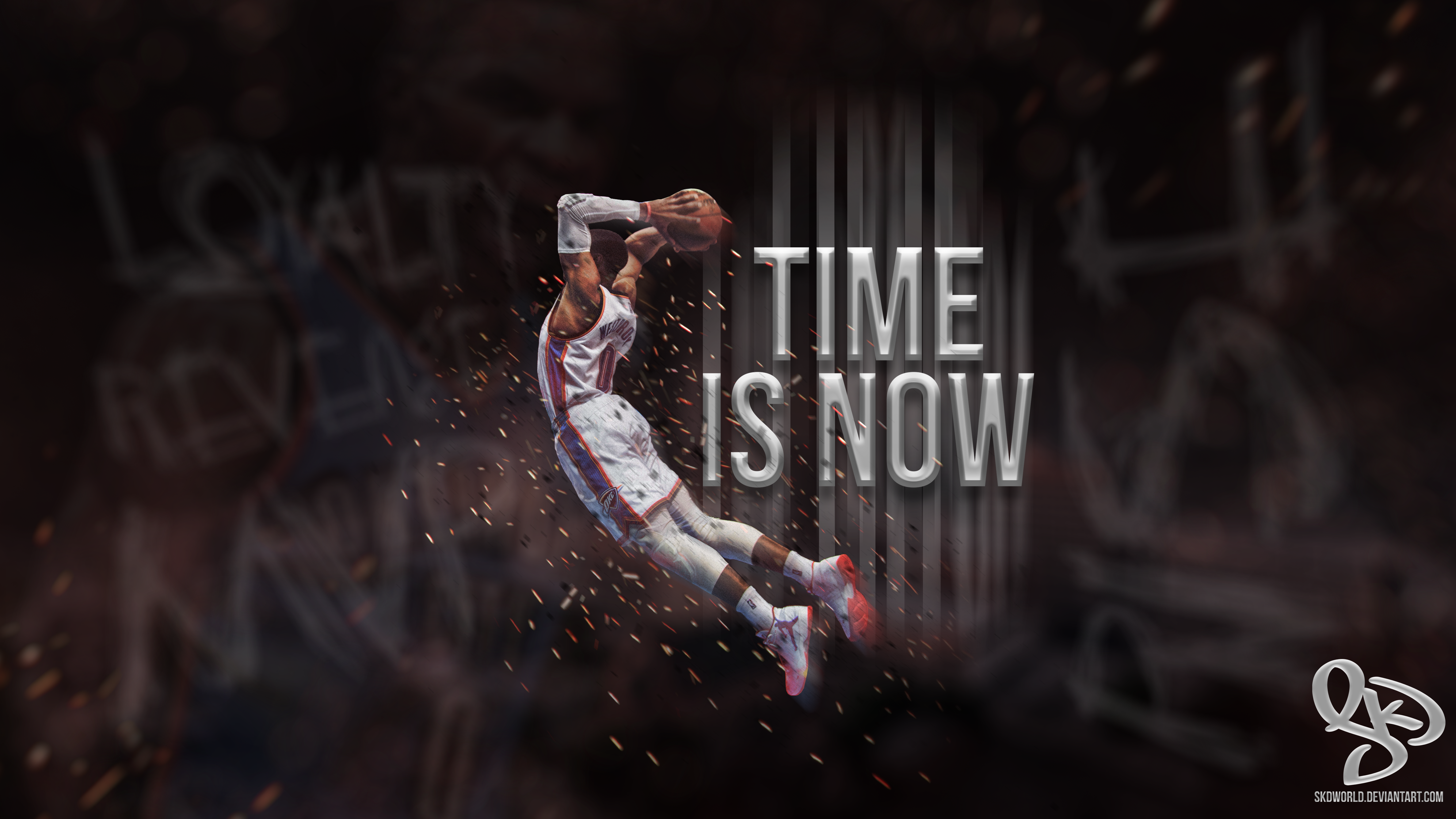Russell Westbrook Time Is Now Wallpaper By Skdworld On