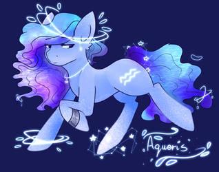 Zodiac Pony Aquarius by Kot-of-Eden