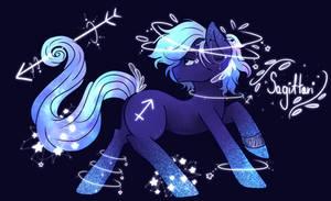 Zodiac Pony Sagittarius by SaphireCat11