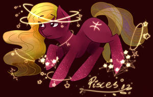 Zodiac Pony Pisces by SaphireCat11