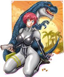 Dino Crisis - Regina by ONELOUSYCAT
