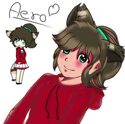 Art Trade with Cup-Theif: Aero by Shimotaki