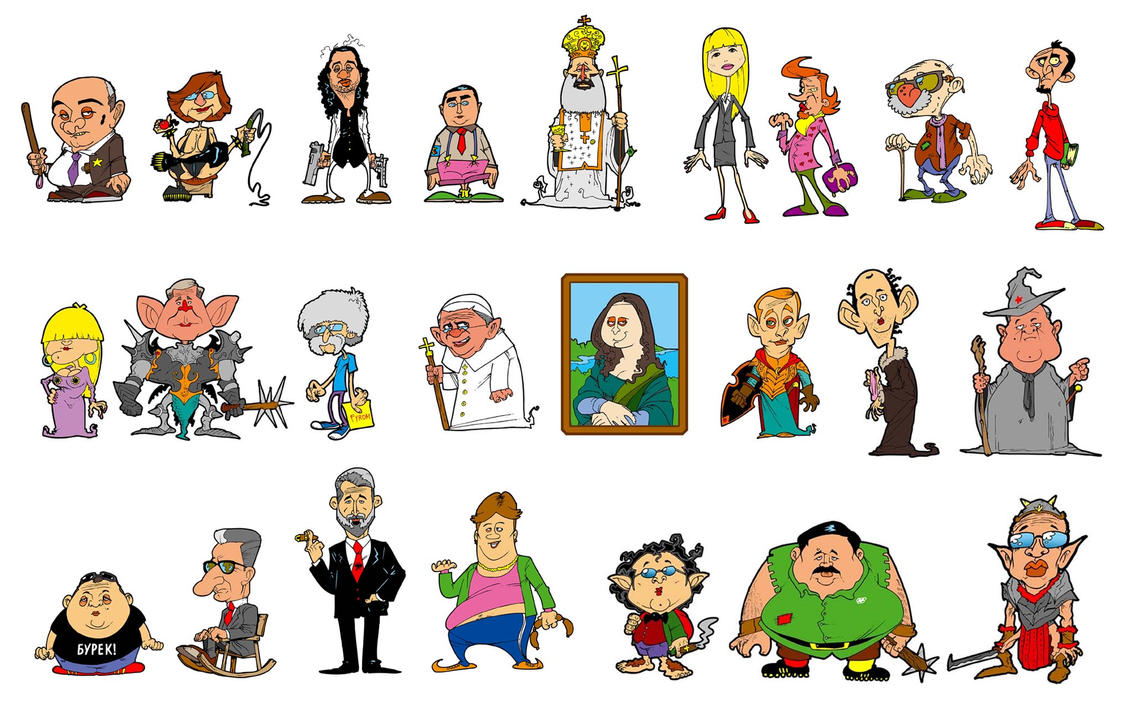 Character Design History : Animation characters by themico on deviantart