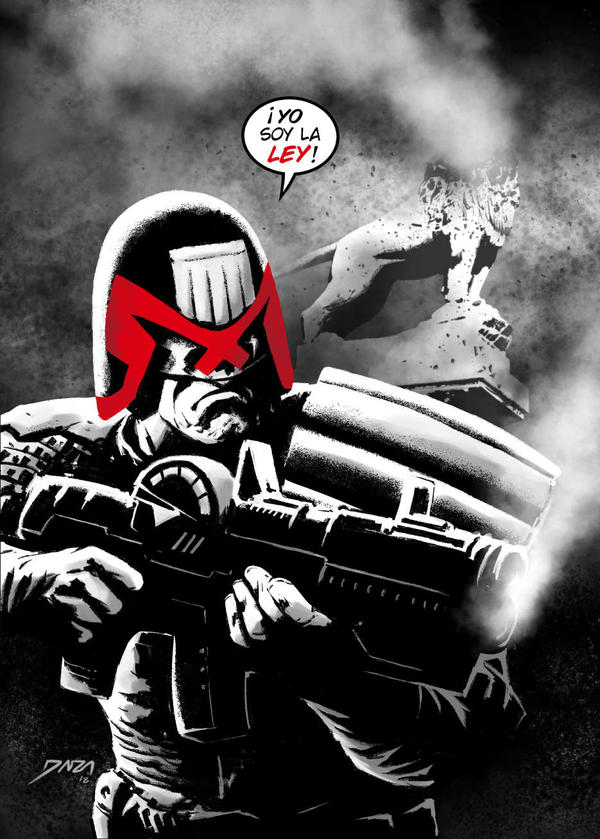 Carlos Ezquerra's Judge Dredd tribute