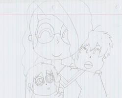 Erin, Takuma, and Kazuma by AriaVampireRose7
