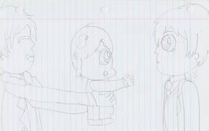 Takuma giving Erin to Kazuma by AriaVampireRose7