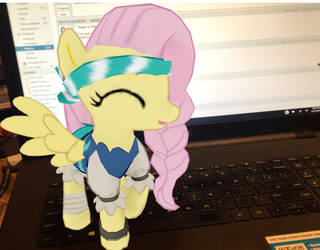 Pirate Fluttershy on my computer by AriaVampireRose7
