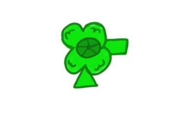 Darcelle's clover clip by AriaVampireRose7