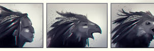 Feathers (Transformation challenge) by Missgraza