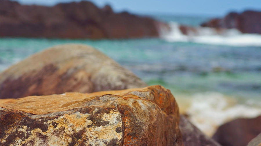 Coastal Rock Stream by duckfarm