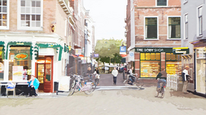 Shopfronts and Cyclists