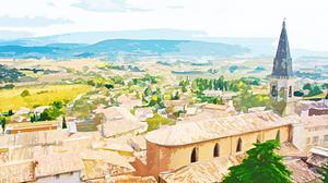 Village and fields