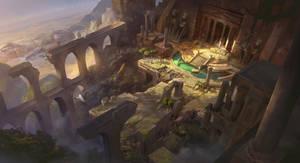 Secret Ruined Temple by Olabukoo