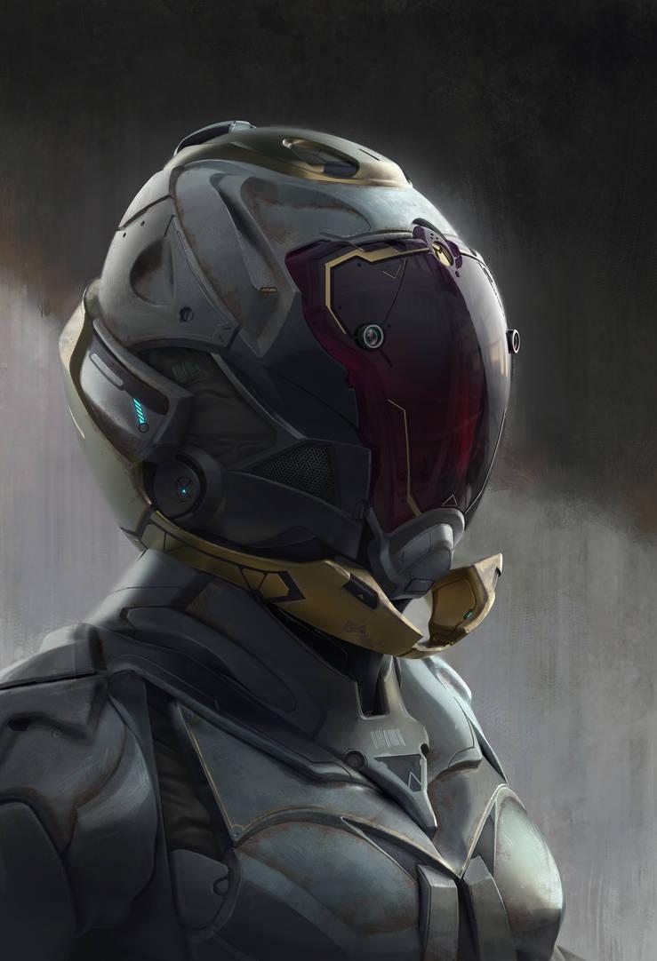helmet dude by Olabukoo