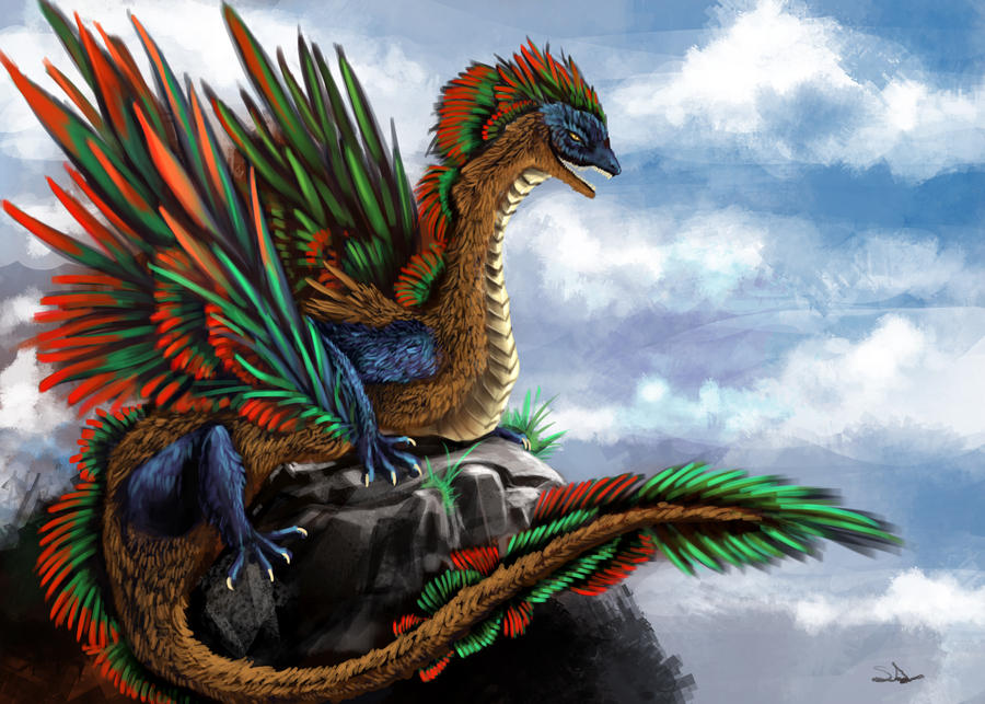 Feathered Dragon By Sweetdrawingwind On Deviantart