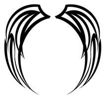Tribal Wing Design by zabador