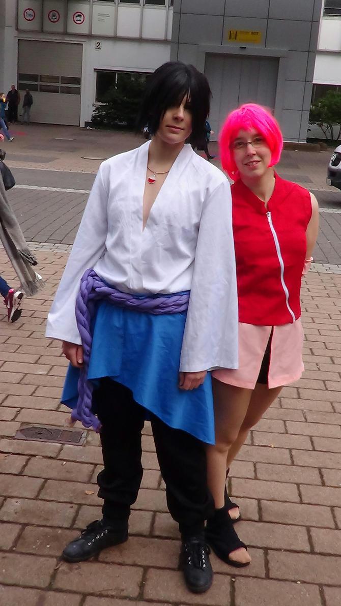 Sasuke and Sakura by TheHedgehogMaria