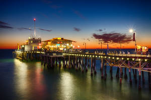 Santa Monica Pier at Sunset by Recalibration