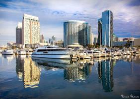San Diego Skyline by Recalibration
