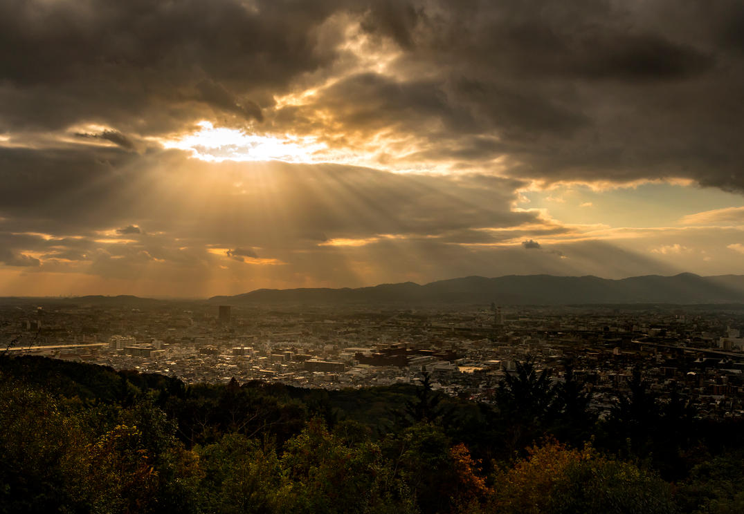 Sunset over Kyoto by Recalibration