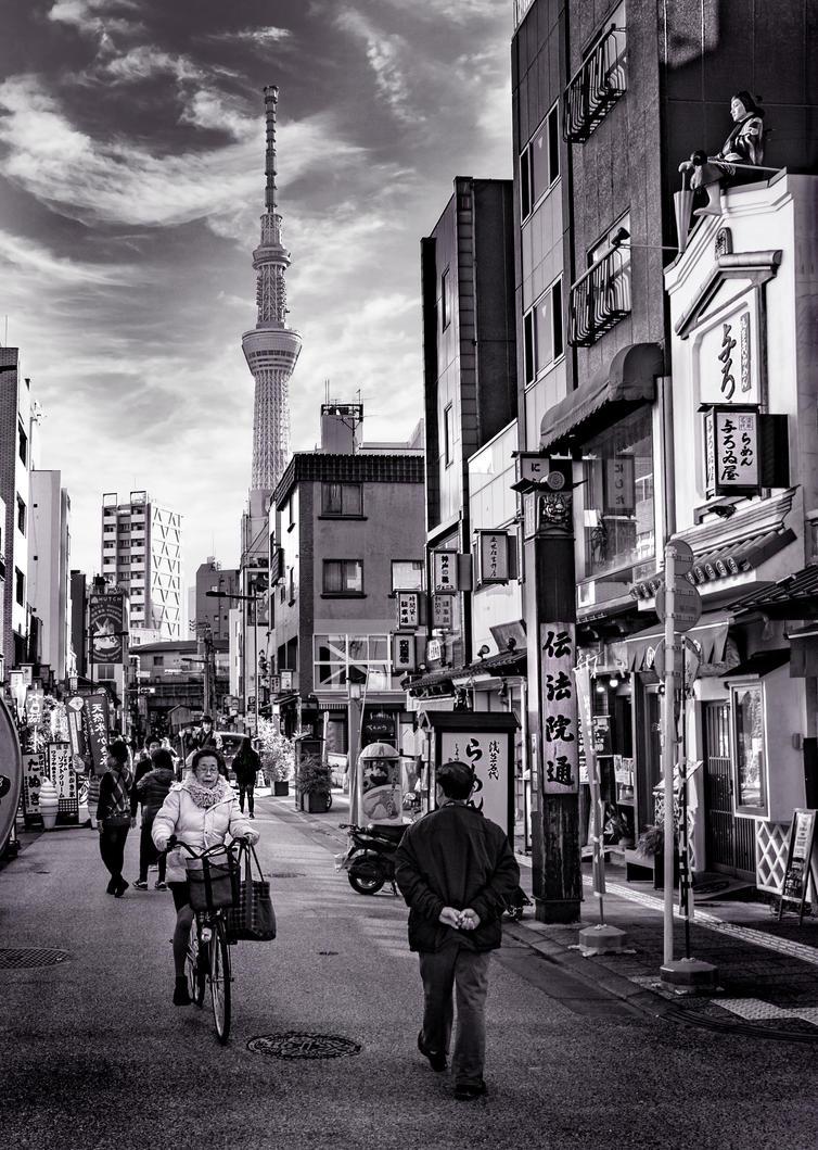 Street scene - Japan by Recalibration