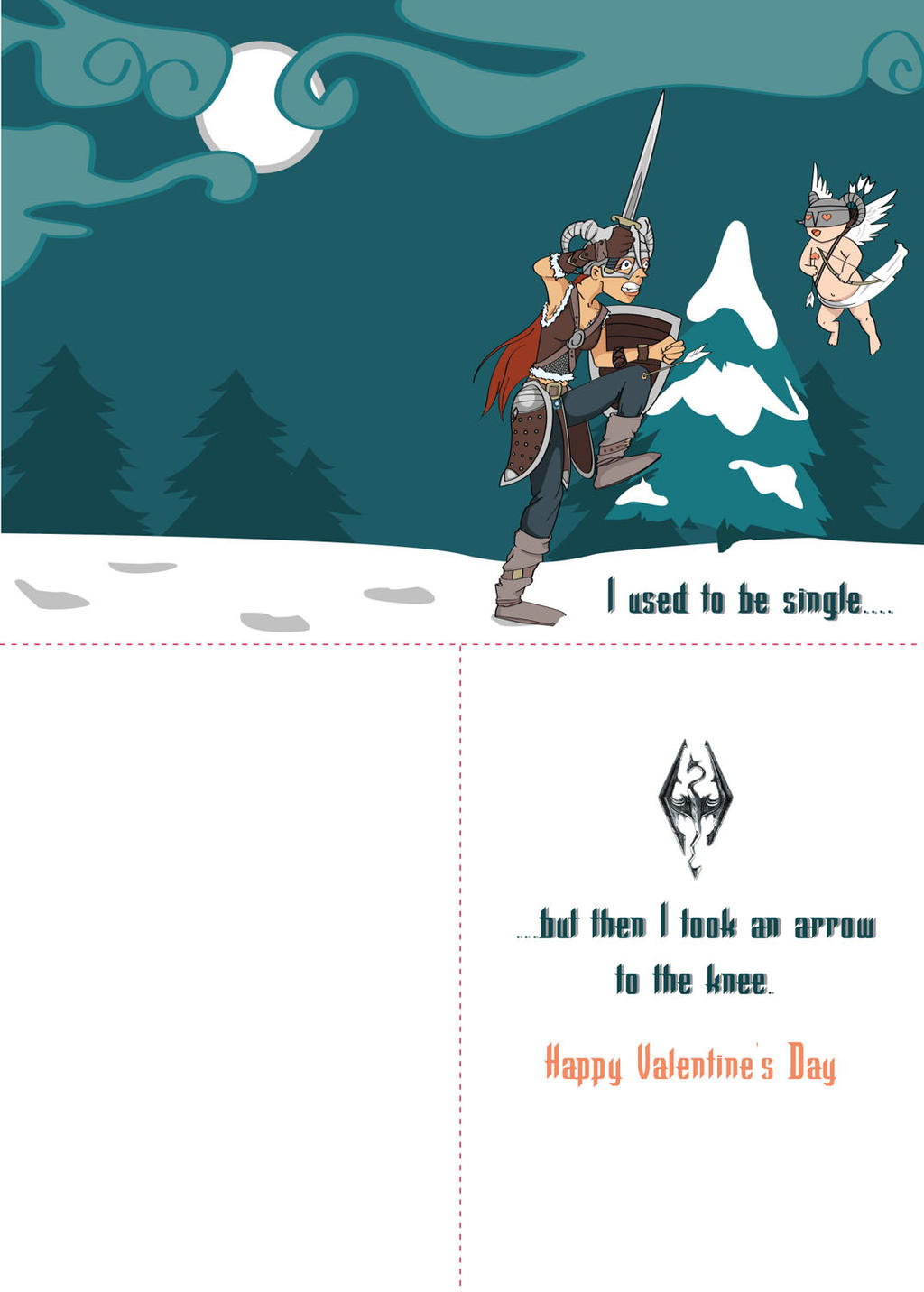 Skyrim Valentines Day Card by TsumeAri on DeviantArt – Skyrim Valentines Card