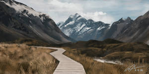 Mountain Path Landscape