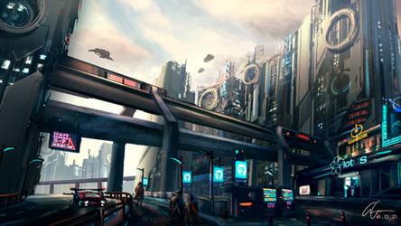 Sunset City - Cyberpunk Commission