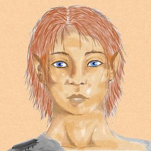 My newest OC -Half elf, inspi' Yuimen-