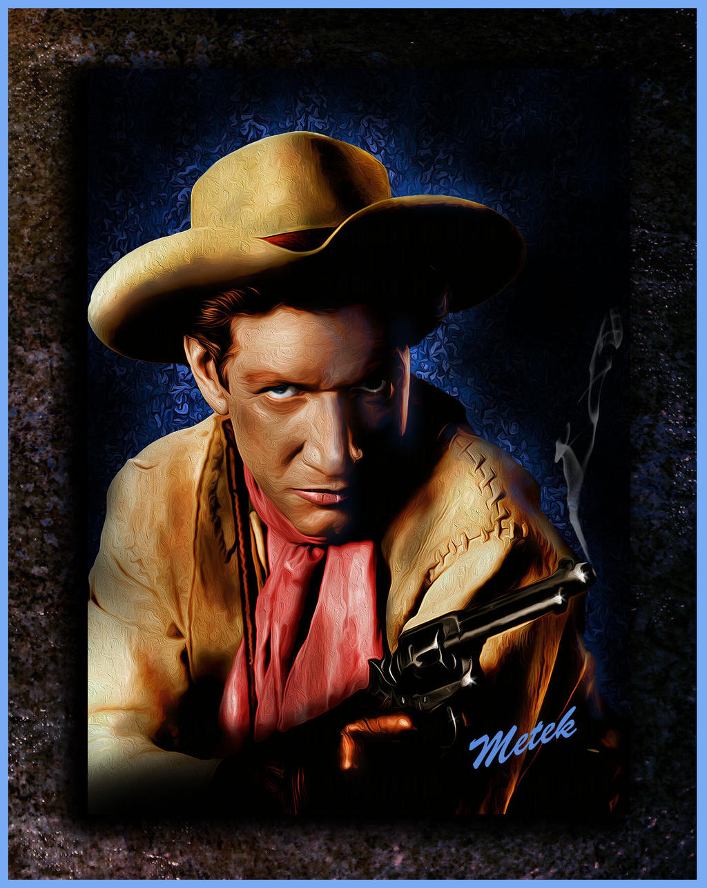 richard boone western metek09 artwork by metek09 on