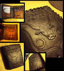 Grey Bull purse by Restyler