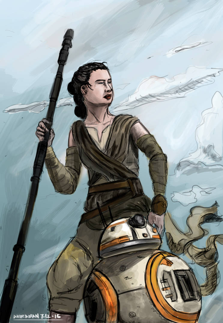 Star Wars VII - Rey Color by 1nakata