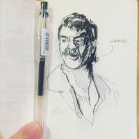 A Super mustache sketch by 1nakata