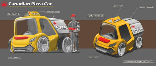 Pizza Car Design Painting Practice by 1nakata