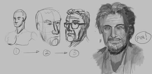 Portrait Drawing Exercise by 1nakata