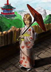 Kimono Girl 2013 Painting Practice by 1nakata